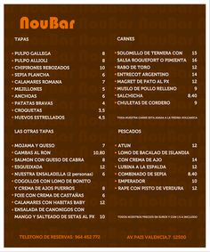 carta calle Nou Bar by C.Elorduy