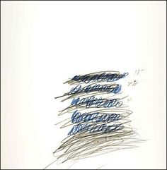 """Letter of Resignation XXXI by Cy Twombly, Ink and Graphite on Paper, collection of John Waters, who described Twombly's techique, as the """"poetics of the Palmer method. John Waters, Robert Rauschenberg, Cy Twombly, Found Art, Mark Rothko, Weird World, Drawing For Kids, Les Oeuvres, New Art"""