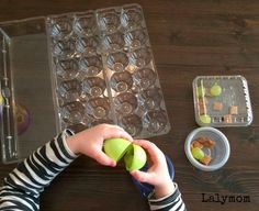 FIne Motor Development- Thumb Flexion- Snack Hunt Activity for Preschoolers and Toddlers from Lalymom