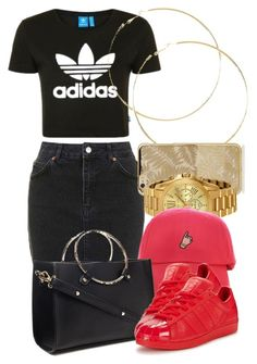 """""""8 2 16"""" by miizz-starburst ❤ liked on Polyvore featuring Topshop, Michael Kors, Forever 21 and adidas Originals"""