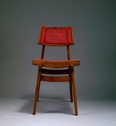 Marcel Gascoin; Oak and Plastic Cane Chair for L'Arhec, c1950.