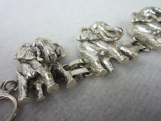 Carol Felley Sterling Silver Elephant Bracelet