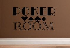 vinyl wall decal quote Poker room sign by WallDecalsAndQuotes, $12.00