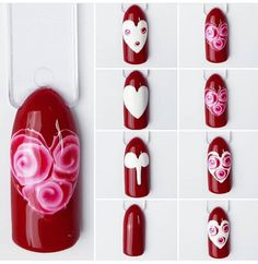 Valentine Nail Art, Valentines, Heart Art, Love Nails, Nails Inspiration, Nail Art Designs, Acrylic Nails, Beauty Hacks, Projects To Try