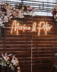 The backdrop of our DREAMS! 😍 Including fun wedding signs is an easy way to m. The backdrop of our DREAMS! 😍 Including fun wedding signs is an easy way to make your big day feel a little more persona. Wedding Destination, Custom Neon Signs, Handmade Wedding, Wedding Signs, Wedding Name, Dream Wedding, Light Wedding, Wedding Set Up, Wedding Lighting