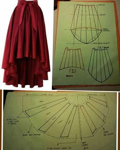 28 Ideas for skirt fashion couture sewing patterns Dress Sewing Patterns, Clothing Patterns, Pattern Sewing, Costume Patterns, Skirt Patterns, Free Pattern, Diy Clothing, Sewing Clothes, Fashion Sewing