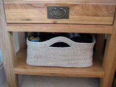 Crochet Storage Bin Pattern Crochet Rope Basket Make My Day Creative Crochet Rope, Crochet Crafts, Yarn Crafts, Crochet Hooks, Crochet Projects, Knit Crochet, Sisal, Rope Basket, Basket Weaving