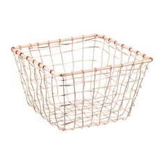 Copper Marche Basket ($75) ❤ liked on Polyvore featuring home, home decor, small item storage, copper basket, copper home decor, copper home accessories, handmade home decor and handmade baskets