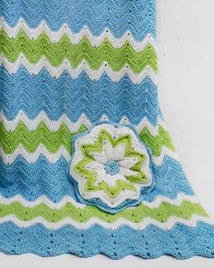 Ripple Baby Afghan and Pillow Crochet Pattern