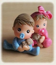 Discover thousands of images about Porcelain Factory China Key: 7570285206 Cute Polymer Clay, Cute Clay, Polymer Clay Miniatures, Fimo Clay, Polymer Clay Crafts, Fondant Figures, Clay Figures, Crea Fimo, Baby Mold