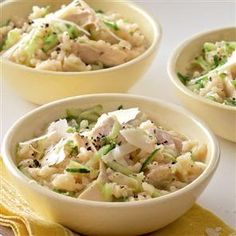 Chicken and cucumber risotto