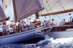 I was not on board for this, but one something like it, during Classic Yacht Regatta in Newport. Ti's bowsprit splintered the mainmast of a 36' sloop.  Not a good day. Google Image Result for http://abigailblake.com/sugarapple/wp-content/uploads/2009/04/antigua-classics1.jpg