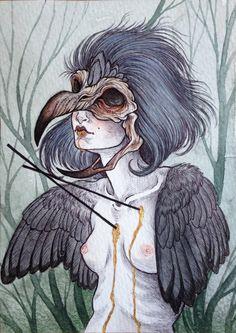 """Bird of Prey""  2013 by Caitlin Hackett"