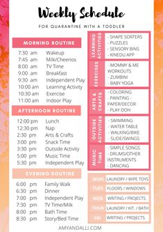 My Toddler & Me: Weekly Schedule Daily Schedule For Moms, Daily Routine Chart For Kids, Family Schedule, Toddler Schedule, Weekly Schedule, Schedule For Toddlers, Daily Routine Schedule, Working Mom Schedule, Daily Schedule Template