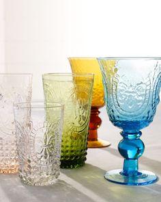 """Renaissance"" Glassware at Neiman Marcus."
