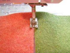 Betz White tutorial for seaming felted wool ~ Never would have thought of this!