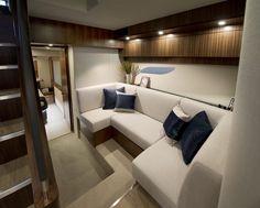 Riviera 6000 Sport Yacht   Atrium Lounge