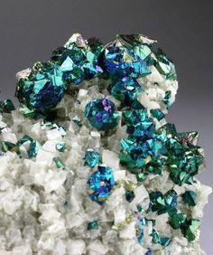 Iridescent Chalcopyrite with Dolomite - Sweetwater Mine, Missouri / Mineral Friends <3