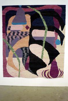 Farolero, 2013 : Coton, linoleum, colle néoprène, pigments naturels (grana cochinilla), 290 x 240 cm
