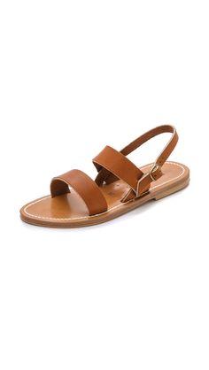 K. Jacques Barigoule Two Band Sandals - Pul Natural | SHOPBOP.COM saved by #ShoppingIS