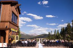 """Want a wedding that says """"Colorado?"""" Bathed in sunshine year round and with an array of outdoor activities, Breckenridge is the perfect place to host your wedding party. With lodging ranging from spacious hotel rooms to luxury condominiums, indoor and outdoor wedding venues boasting panoramic views and endless activities in all four seasons, Breckenridge sets the scene for a perfect mountain wedding."""