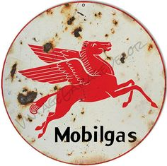 Mobilgas Pegasus Sign, Vintage Aged Style Aluminum Metal Sign, 2 Sizes Available, USA Made Vintage Style Retro Garage Art by HomeDecorGarageArt on Etsy Garage Art, Old Garage, Garage Signs, Geeks, Metal Board, Old Gas Pumps, Vintage Metal Signs, Vintage Auto, Style Retro