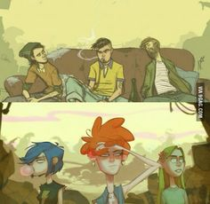 Ed, Edd, and Eddy all grown up!