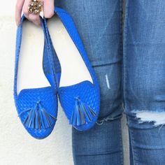 jeans | destroyed | slipper | sapatilha | tressê | blue | guilhermina shoes