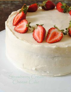 Just the best strawberry cream cheese cake EVER!