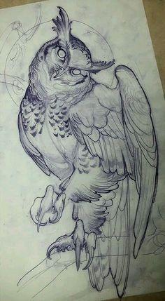 Best Tattoo Trends – Owl tattoo design • Visit artskillus.ru for more tattoo ideas The post Tattoo Trends – Owl tattoo design • Visit artskillus.ru for more tattoo ideas appeared first on Garden ideas. Owl Tattoo Design, Tattoo Designs, Drawing Sketches, Art Sketches, Tattoo Sketches, Drawing Ideas, Awesome Sketches, Awesome Drawings, Animal Drawings