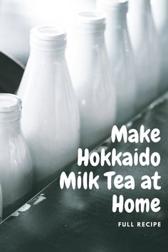 Hokkaido, Japan makes milk that has a higher fat content that helps to bring a creamier texture in dairy.   Delicious! Milk Tea Recipes, Bubble Tea, Dairy, Fat, Content, Japan, Foods, Texture, Drinks