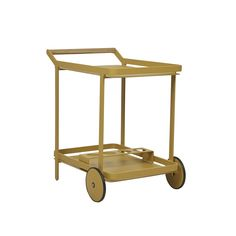 Modern with a twist of nostalgic flare, the Lagoon Bar Trolley is available in different colours to fit your outdoor spaces with ease. The powder coated aluminium frame contrasts against the teak handle, highlighting this trolley's poolside charm.