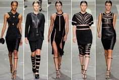 Some of my favorite looks from the alexander wang spring 2013 collection. Wang is still the hottest thing in fashion. Runway Fashion, High Fashion, Fashion Show, Gold Fashion, Fashion Design, Style Fashion, V Dress, Inspirational Celebrities, Best Wear