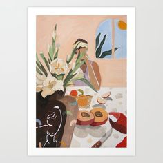 Breakfast Art Print by artyguava From The Ground Up, Buy Frames, Printing Process, Gallery Wall, Seasons, Make It Yourself, Art Prints, Breakfast, Painting