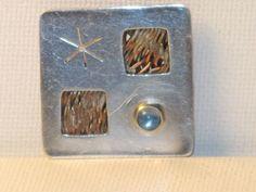 C. Roche Silver Modernist Brooch Pin B-1-1 by delightfullyvintage
