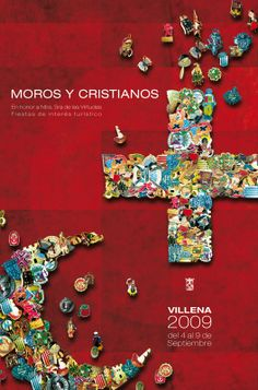 Moros y Cristianos. Cartel ganador 2009. Cartel DOSIGN COMUNICACIÓN. Poster design Diamond Earrings, Alicante, Decoration, Vintage Posters, Festivus, Fiestas, Manualidades, Decor, Deko
