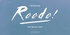 Roodo Dry Brush #Font - Grunge #Decorative Download here: https://graphicriver.net/item/roodo-dry-brush-font/20433405?ref=alena994