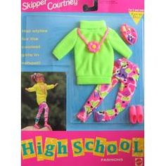 Easy To Dress Skipper Courtney High School Fashions Hot Styles For The Coolest Girls in School! Barbie SKIPPER COURTNEY High School Fashions MALL - Easy To Dress (1992)