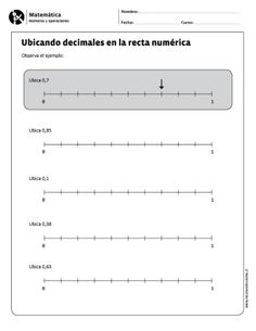Decimales en la recta numérica | math 5 | Pinterest | Escuela ...