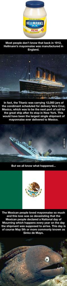 A fact about the Titanic.