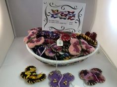 $6.00 Butterfly felted pins and hair clips