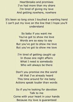 To show you my love lyrics