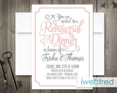 Read the Script  Rehearsal Dinner Invitations by iwedfred on Etsy, $45.00