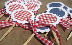 Western Cupcake Toppers Western Theme REVERSABLE by SweetSambolina, $10.00