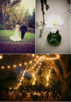 I love the bottom picture. A giant tree is the best feature of an outdoor wedding.