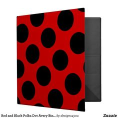 Red and Black Polka Dot Avery Binder