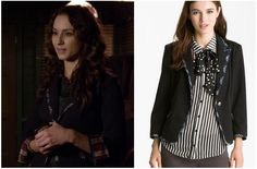 Pretty Little Liars - Spencer Gibson Preppy Plaid Trim Blazer (nordstroms) Pretty Little Liars Spencer, Pretty Little Liars Seasons, Preppy Mode, Preppy Style, Pll Outfits, Spencer Hastings, Riding Pants, Blazer Buttons, Nordstrom