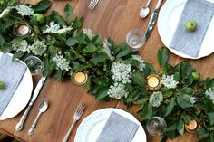 As a born-and-bred do-it-yourselfer, I like to rely on Mother Nature for summertime entertaining. On a visit to my Connecticut hometown, I gathered Queen Anne's Lace from a fallow field and clipped branches of crab apples to make a festive tablescape.