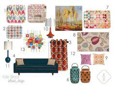 Kate Brock Interior Design ll eDesign Board ll Today it's Tangerine