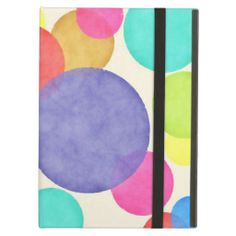 Bright Watercolor Circles iPad Case for  a new iPad Air! By AustinLED